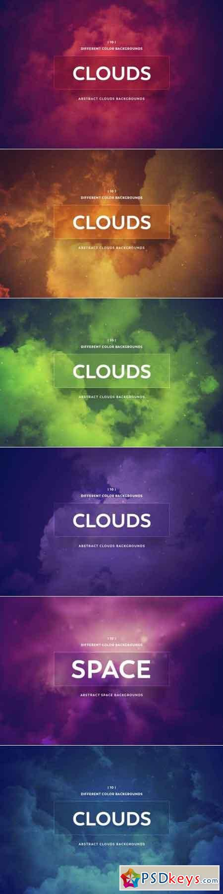 Abstract Clouds Backgrounds Bundle