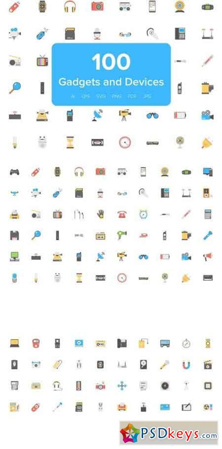 Flat Icons of Gadgets and Devices 2126761