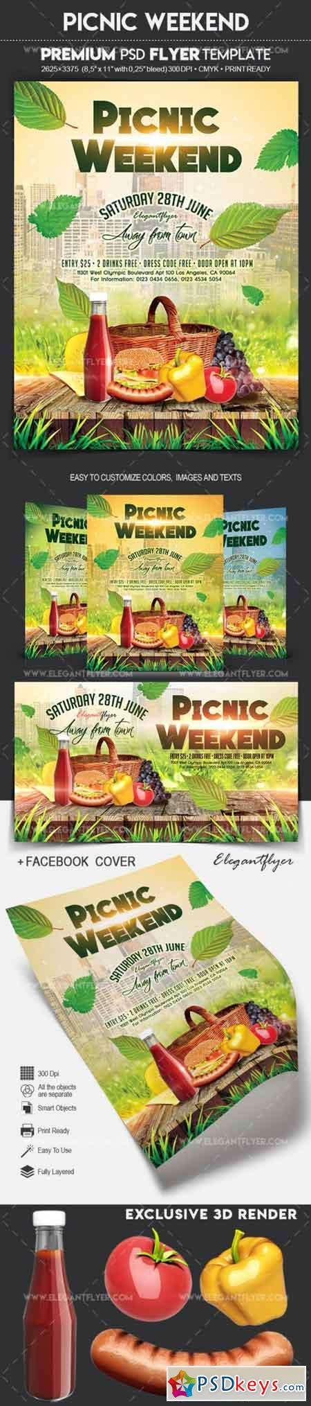 Picnic Weekend – Flyer PSD Template