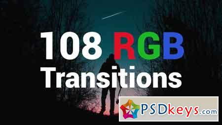 108 RGB Transitions - Premiere Pro Templates 79534