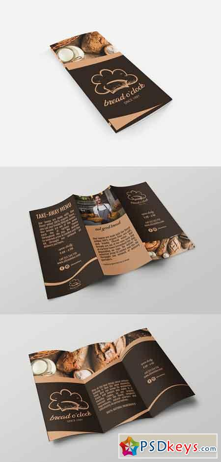 Bread Oclock Trifold Template 2582110