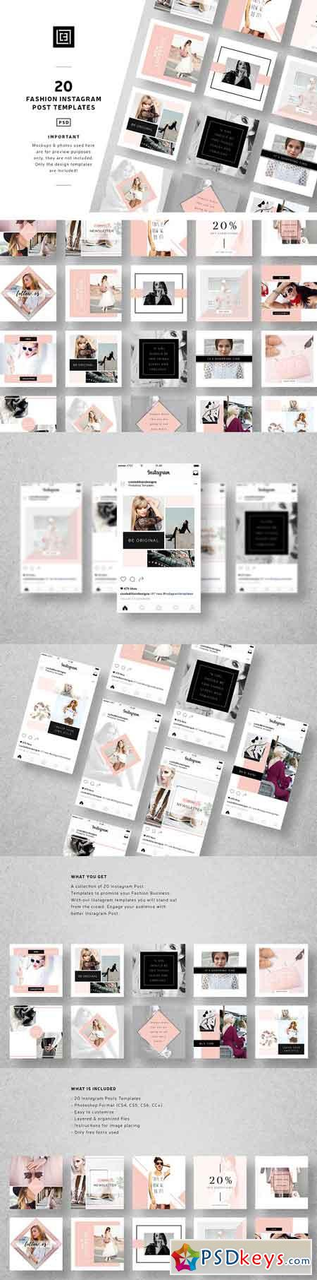 Fashion Instagram Post Templates 2583496