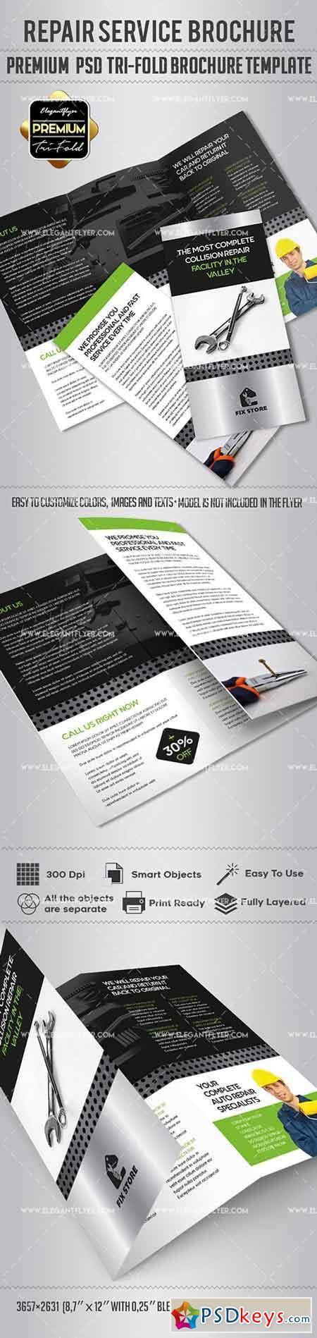 Repair – Tri-Fold Brochure PSD Template