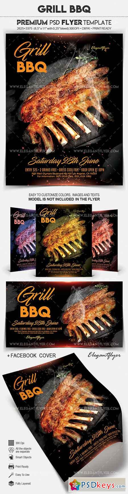Grill BBQ – Flyer PSD Template