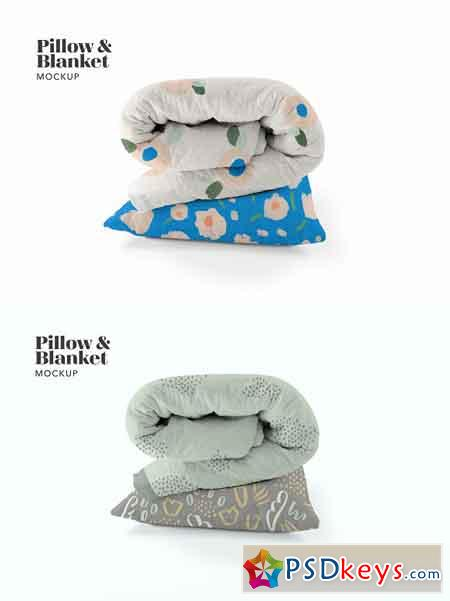 Pillow and Blanket Mockup 2577921