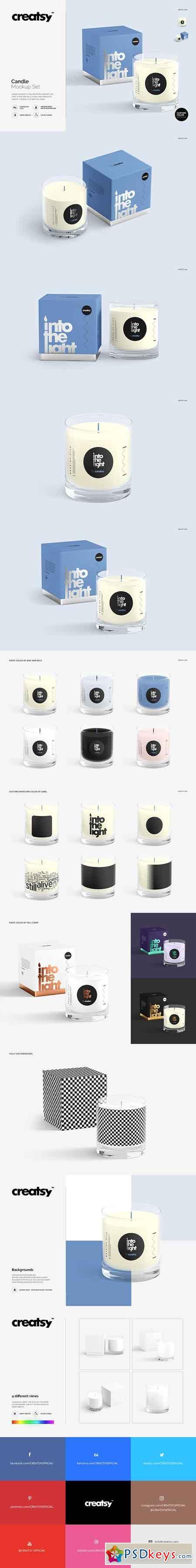 Candle Mockup Set v1 2577633