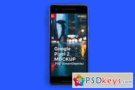 Google Pixel 2 Android Phone Mockup