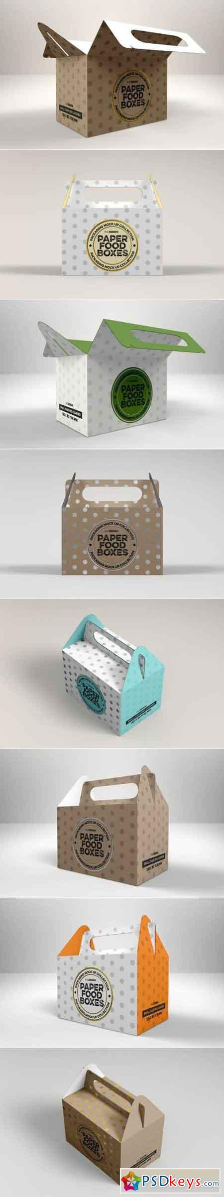 Small Box Carrier Packaging Mockup