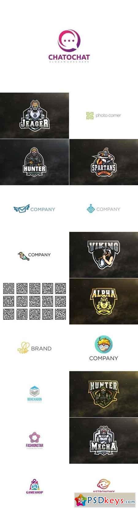 Logo Bundle 60 » Free Download Photoshop Vector Stock image