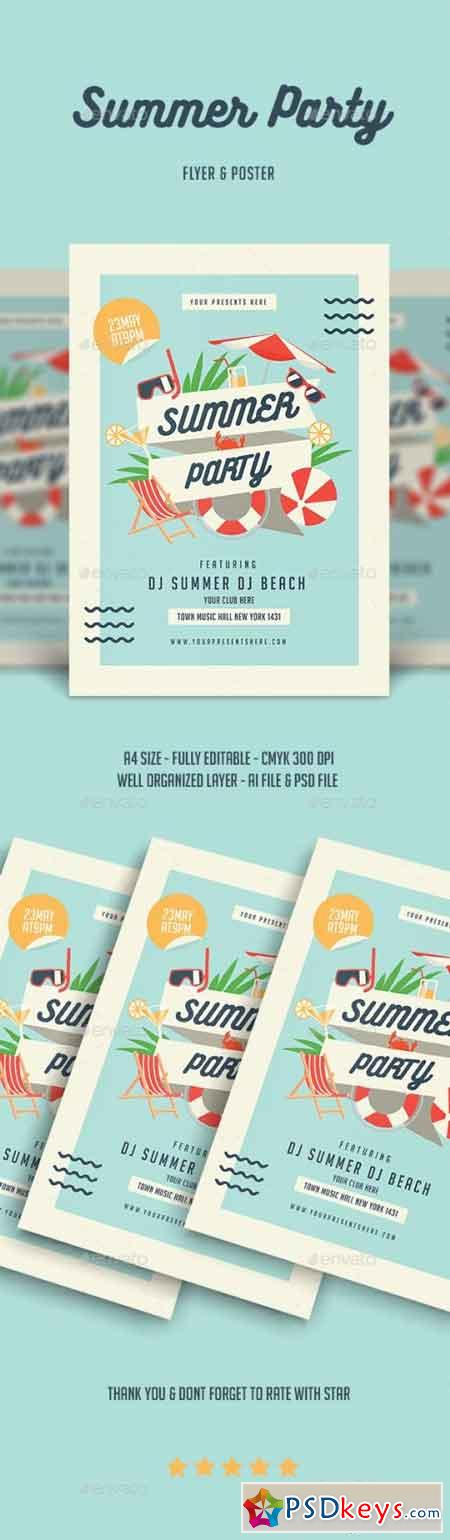Summer Party Flyer 22008089