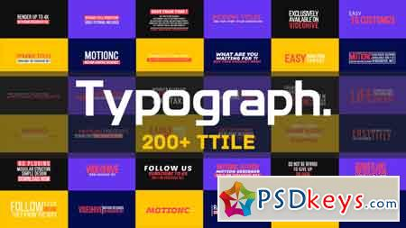 Typograph 21829693 - After Effects Projects