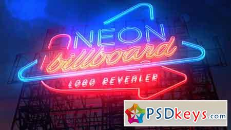 Neon Billboard Logo Revealer 21763750 - After Effects Projects