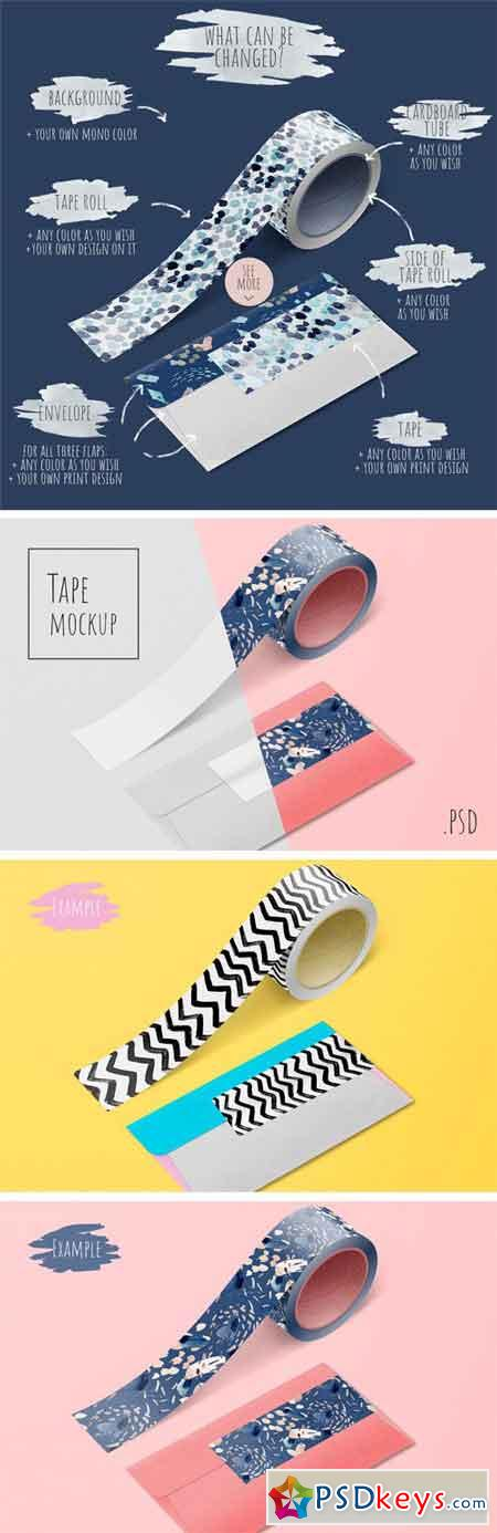 Tape and Envelope Mockup 2396739