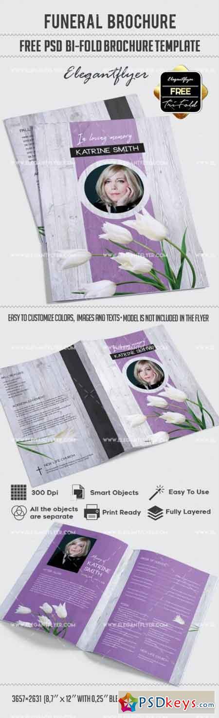 Funeral – Bi-Fold Brochure PSD Template