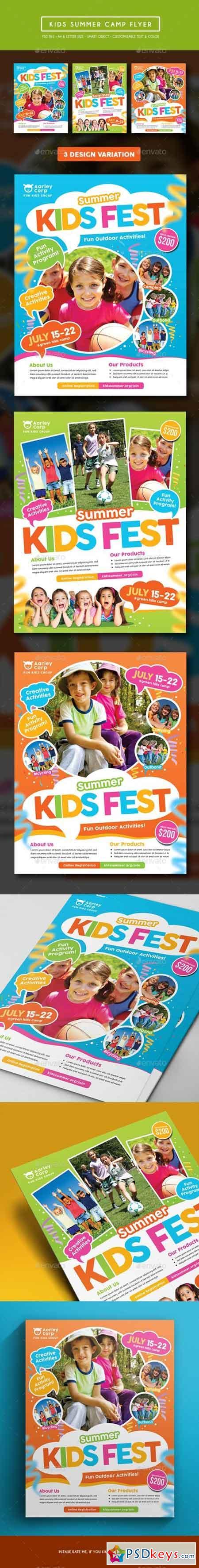 Kids Summer Camp Flyer 15249803