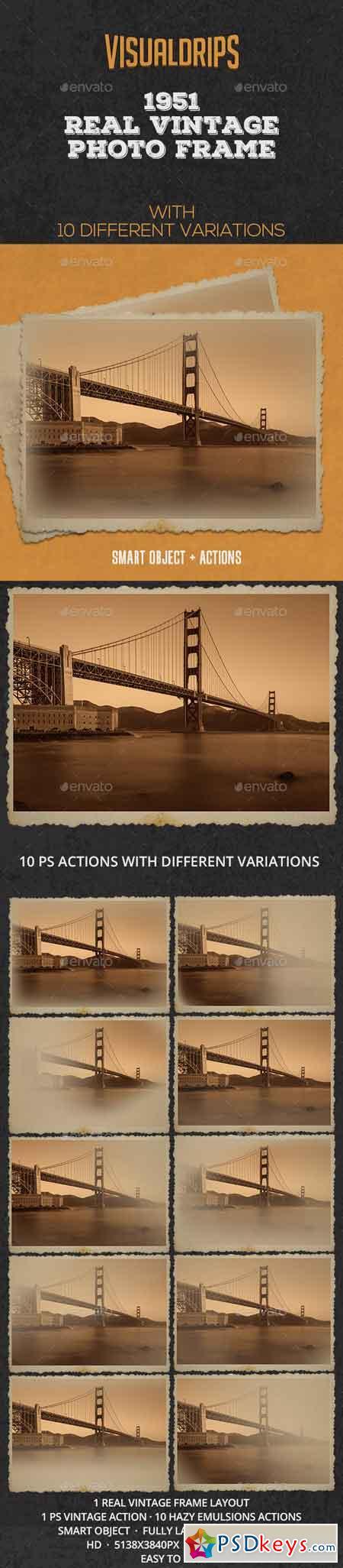 1951 Vintage Frame Photoshop Template 21954083