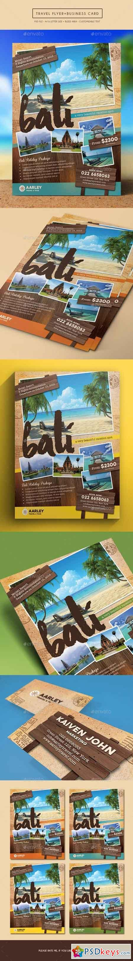 Travel Flyer + Business Card 15109915
