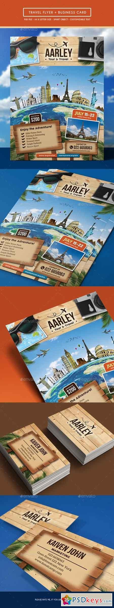 Travel Flyer + Business Card 16176044