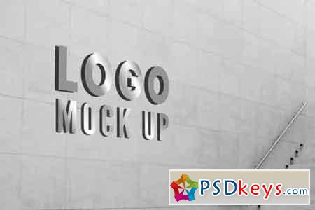 Wall Logo Mock Up