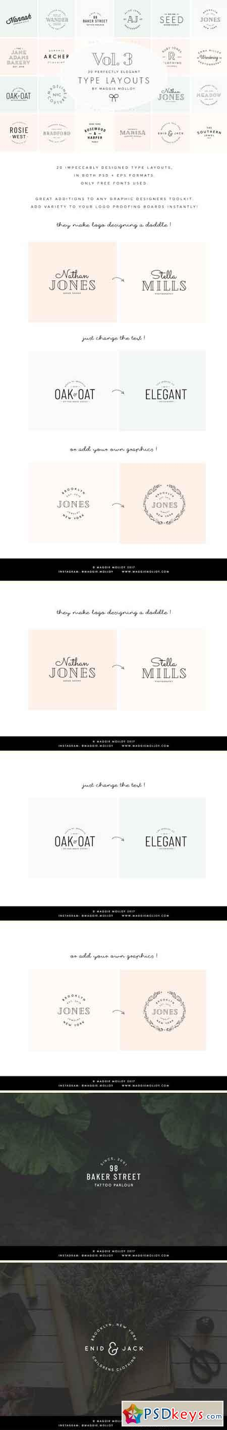 Type Layouts Vol. 3 Text Based Logos 2128086