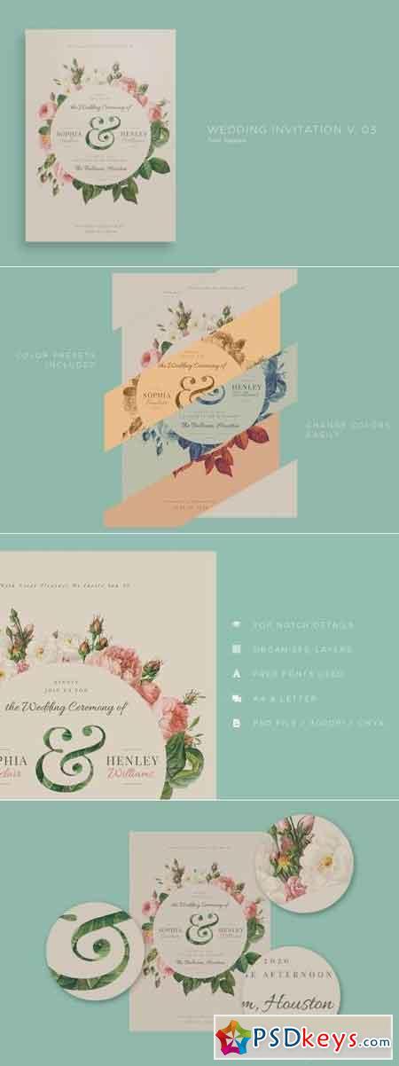 Wedding Invitation V03