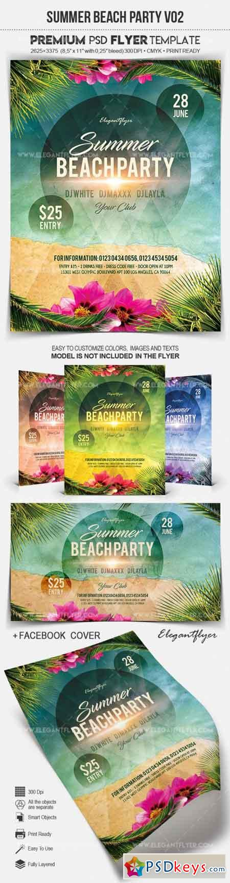 Summer Beach Party V02 – Flyer PSD Template