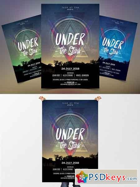 Under the Stars - PSD Flyer Template 2580585