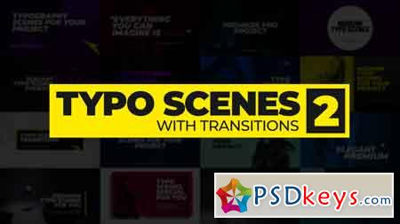 Typo Scenes With Transitions 2 - Premiere Pro Templates 83285