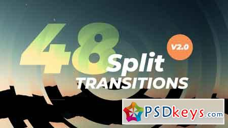 48 Dynamic Split Transitions V2.0 - Premiere Pro Templates 78640