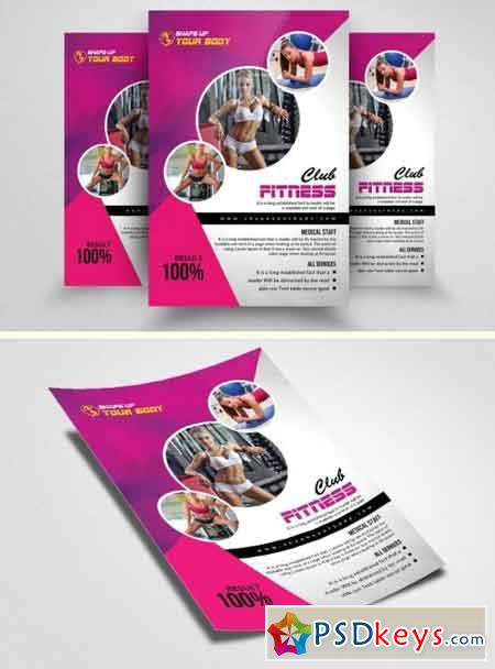 Fitness Gym PSD Flyer Templates 1570355