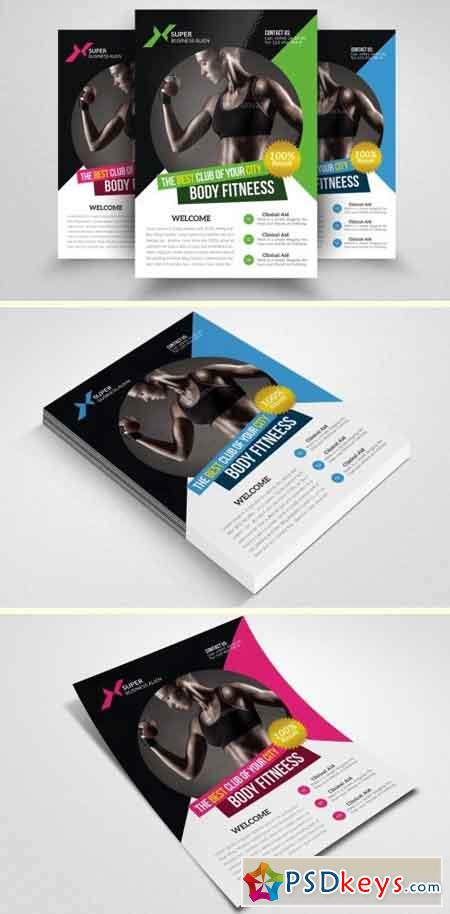 Body Fitness Club Flyer Template 1549085