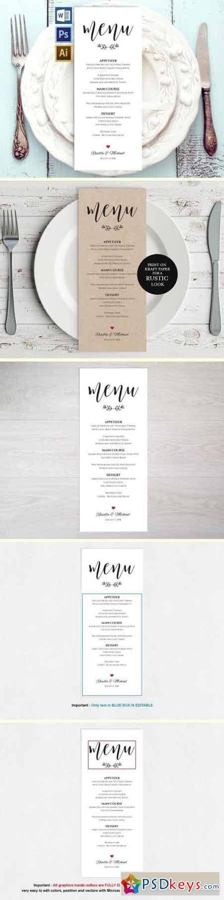 Wedding Menu Template Wpc 127 1550249