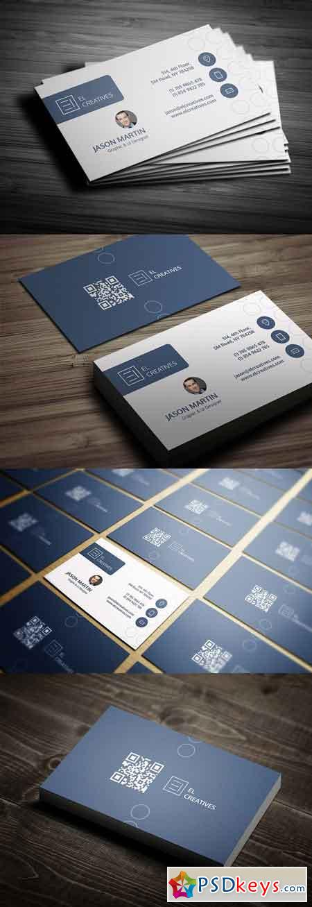 Clean Individual Business Card 2579616