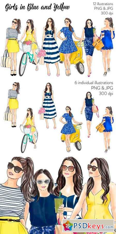 Girls in Blue and Yellow 2517793
