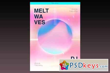 Melt Waves Flyer Poster