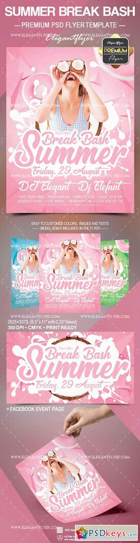 Summer Break Bash – Flyer PSD Template