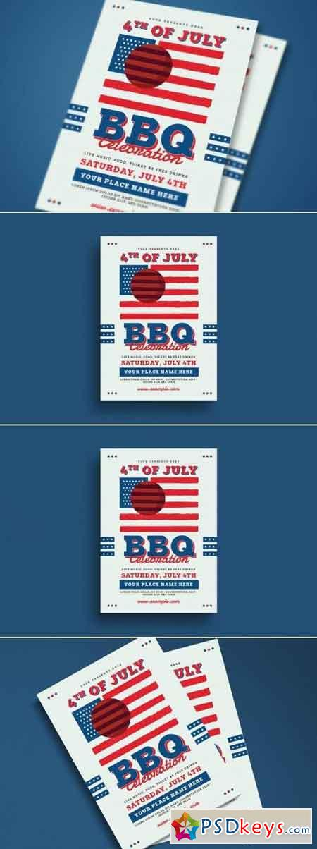 4th Of July BBQ Party Flyer 2