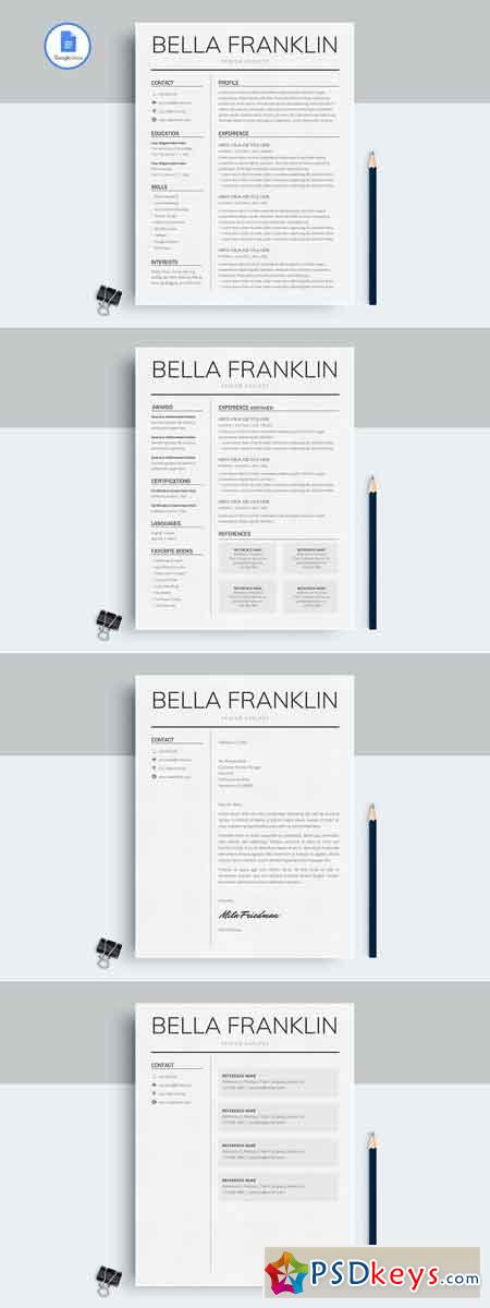 Google Docs Resume Template 2583436
