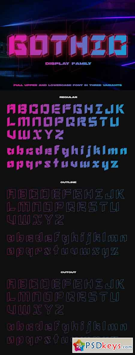 NF Gothic - Display Font 2581001