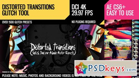 Distorted Transitions (Glitch Tool) 18524764 - After Effects Projects