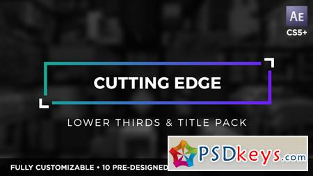 Cutting Edge Titles and Lower Thirds 19500032 - After Effects Projects