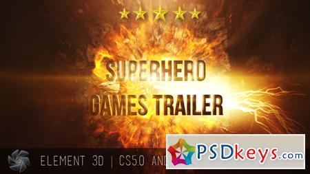 Superhero Games Trailer - Cinematic Titles 15628573 - After Effects Projects