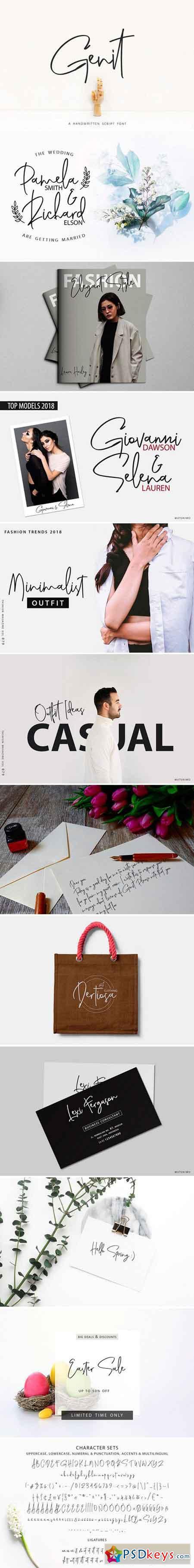 Genit - Classy Handwritten Font 2517925