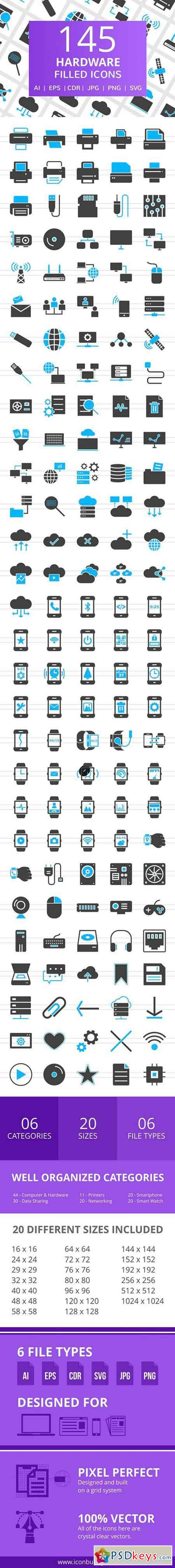 145 Hardware Filled Icons 2517453