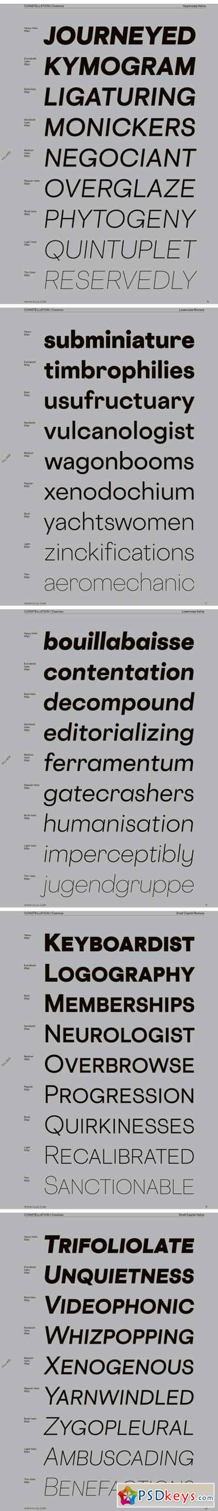 Cosmica Font Family