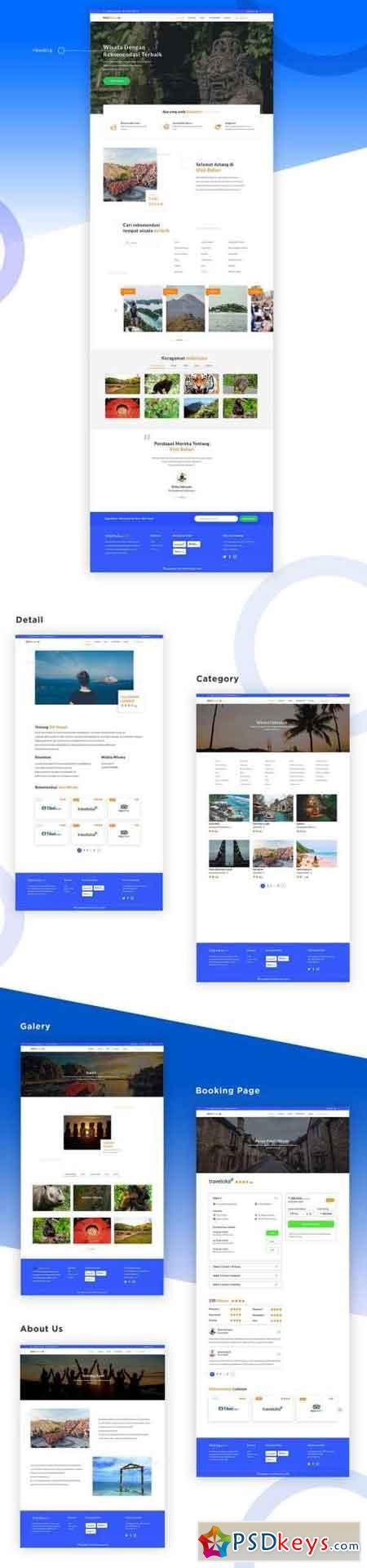 Travel Website PSD