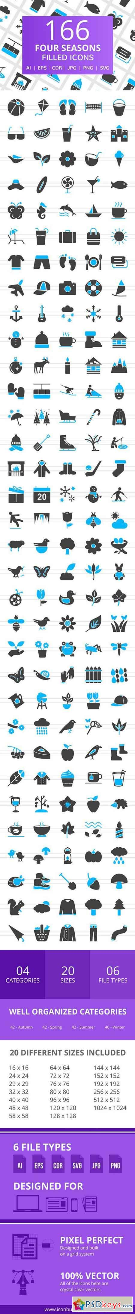 166 Four Seasons Filled Icons 2517270