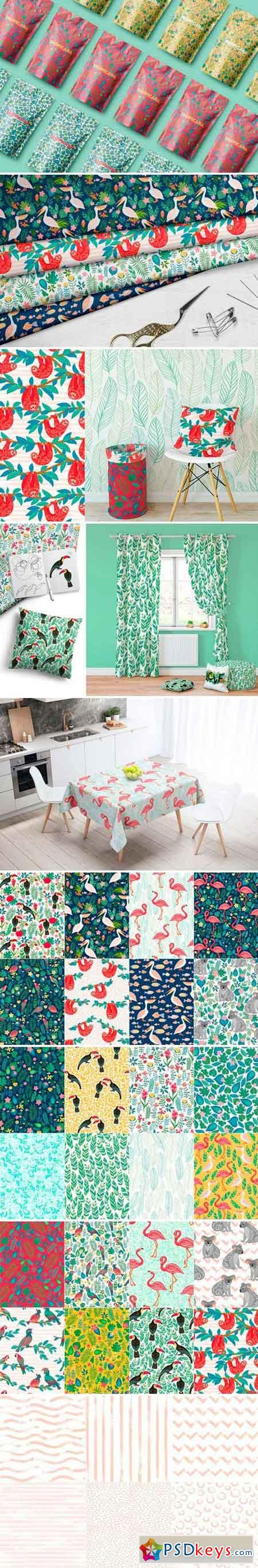 TROPICANA, 30 Seamless Patterns 2517988