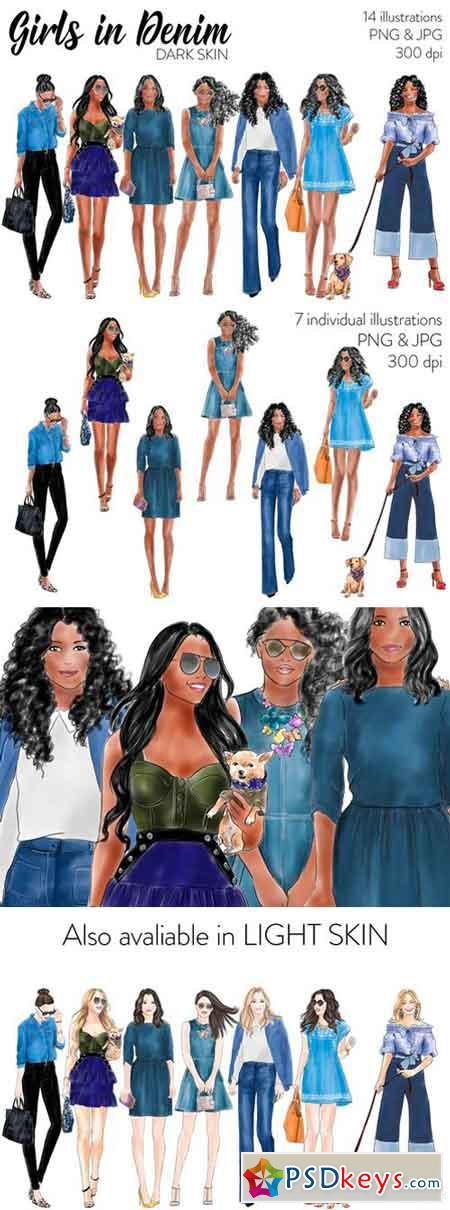 Girls in Denim - Dark Skin 2517676
