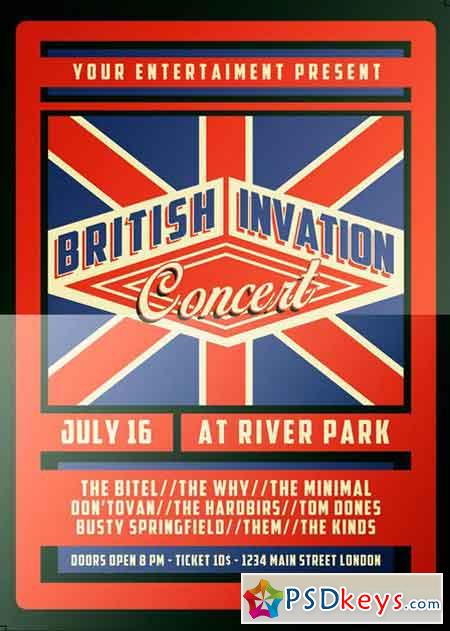 British Invasion Concert Flyer 2516529